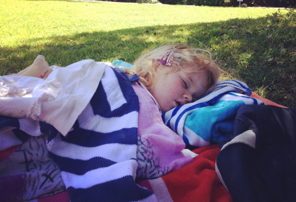 A snooze at Harold Porter