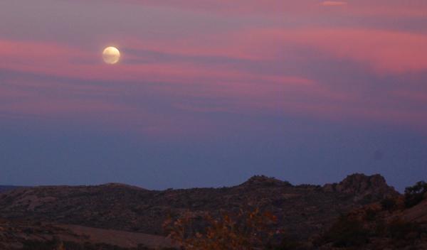 Moonrise over Erongo