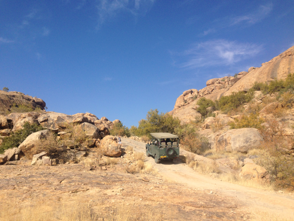 The driveway of Erongo Wilderness Lodge
