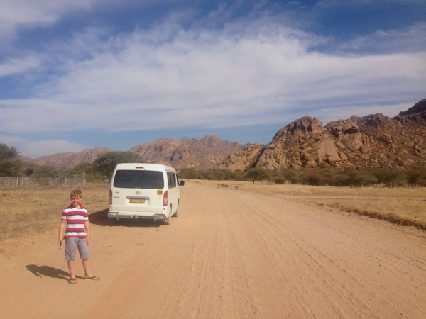 The road west from Erongo