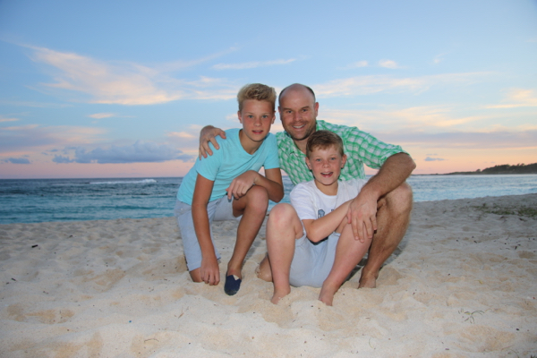 Tommy, Adam and I on the beach