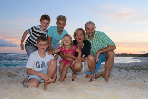 Sundowners with the family