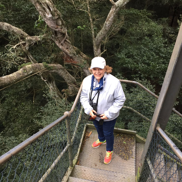 Granny Pam on the boardwalk tower