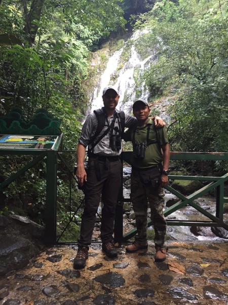 Danilo, our guide, and me