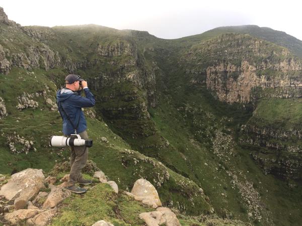 The escarpment at 3000m
