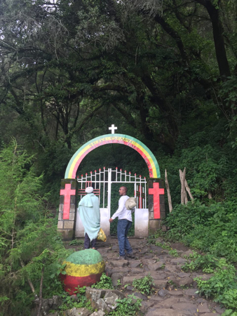 Religious gates in the forest