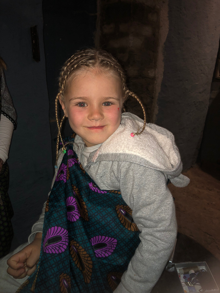 Emma with her braids