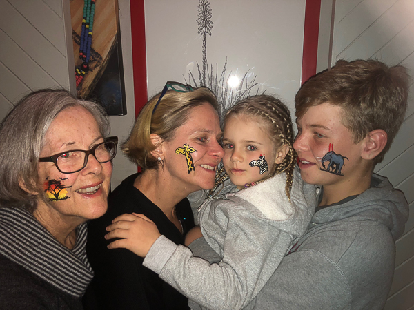 Face painting and braids