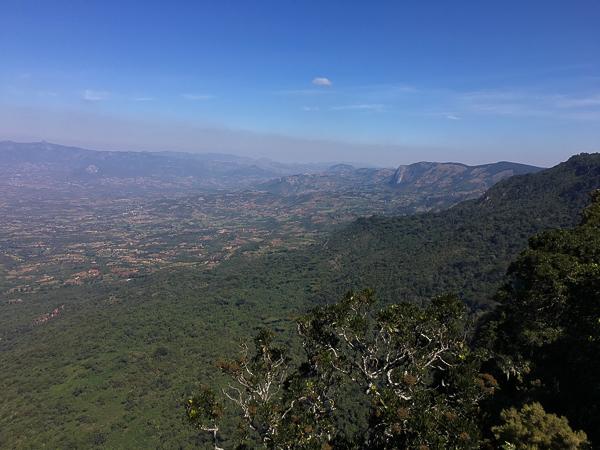 The Honde Valley below