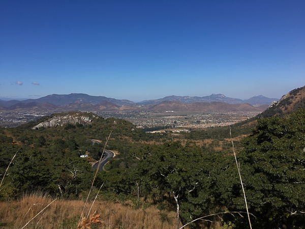 A view over the Miombo down to Mutare
