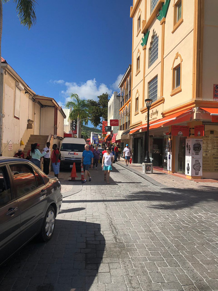 Retail stores in the port