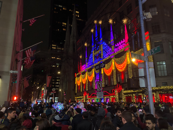The Saks Department store Christmas lights