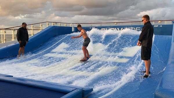 Surfing on the Flow-rider